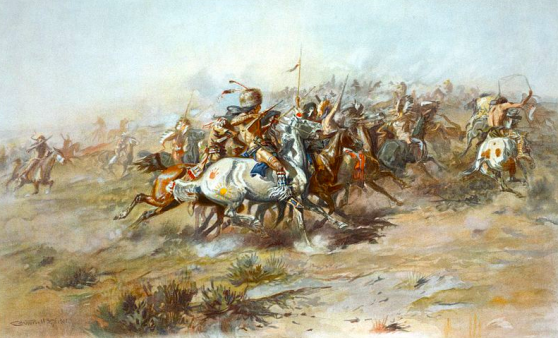 "Charles Marion Russell, ""The Custer Fight"""