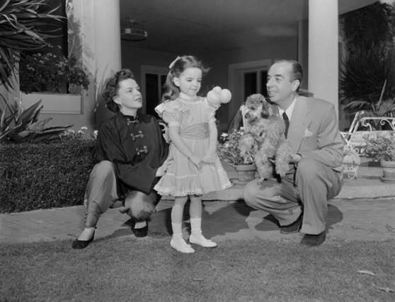 Judy Garland with Husband and Daughter Liza Minnelli